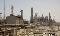 This May. 3, 2009, file photo shows an oil facility in Jubeil, about 600 kilometers (370 miles) from Riyadh, Saudi Arabia.