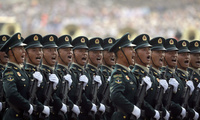 China's People's Liberation Army members in parade
