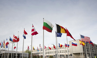 Flags of member states outside NATO headquarters