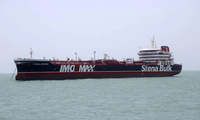 The oil tanker Stena Impero in an Iranian port