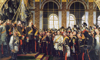 Painting of the crowning of Wilhelm I to emperor of Germany, in Versailles