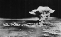 The atomic cloud over Hiroshima, taken from the Enola Gay on August 6, 1945 (U.S. government/Wikimedia).