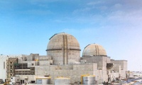 The Barakah nuclear power plant under construction in 2017.