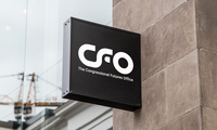 A mockup of a CFO sign