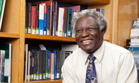 Photo of Calestous Juma in his office.