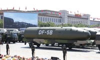 Chinese DF-5B intercontinental ballistic missiles