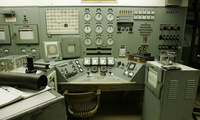 In this file photo taken April 3, 2008, the control panel for Hanford nuclear reservation's famous B Reactor is shown in Richland, Wash. The B Reactor, the world's first full-sized reactor, will be part of the Manhattan Project National Historical Park, the nation's newest national park. (AP Photo/Ted S. Warren, File)
