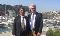 Pakistani Lt. Gen. Khalid Ahmed Kidwai with Befler Center Executive Director for Research Gary Samore in Istanbul.