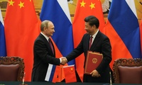 Vladimir Putin and President of the People's Republic of China Xi Jinping held talks in Beijing, June 25, 2016.