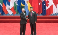 President Vladimir Putin with President Xi Jinping during the G20 Summit, September 3-5, 2016, in Hangzhou, China.
