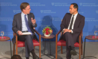 Congressman Joaquin Castro in conversation with Ambassador Nicholas Burns