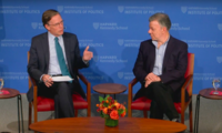Former President of Colombia Talks Peacekeeping Efforts with Former U.S. Ambassador Nicholas Burns