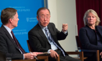 From left to right: Ambassador Nicholas Burns, Secretary General Ban Ki-moon, Ambassador Susan Thornton