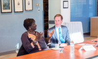 Former Prime Minister of Senegal Aminata Touré and Ambassador Nicholas Burns