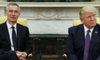 NATO Secretary-General Jens Stoltenber Meets with US President Donald Trump
