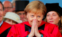 German Chancellor Angela Merkel at Harvard's 368th Commencement Ceremony