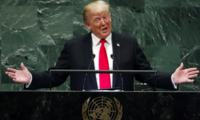 President Donald Trump addresses the 73rd session of the United Nations General Assembly, at U.N. headquarters, Tuesday, Sept. 25, 2018