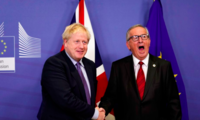 British Prime Minister Boris Johnson and President of the European Commission Jean-Claude Juncker