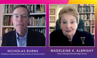 Professor Nicholas Burns and former Secretary of State Madeleine Albright