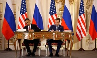 US President Barack Obama and Russian President Dmitry Medvedev sign the New START Treaty in Prague in 2010.