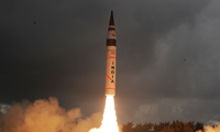 Test-launch of an Indian missile