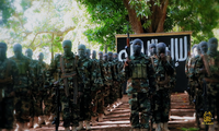 An Al-Shabaab military training camp in Somalia