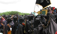 Al-Shabab women at an insurgent rally