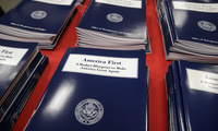 Copies of Trump's budget