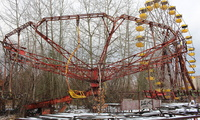 Abandoned amusement park in the Chernobyl Exclusion Zone