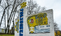 Chernobyl welcome sign