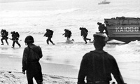 U.S. Marines coming ashore