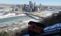 Partially frozen rivers in Pittsburgh