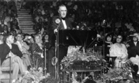 President Franklin D. Roosevelt delivers a speech