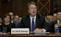 Judge Brett Kavanaugh during the Senate hearings.