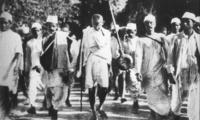 Gandhi leading the 1930 Salt March