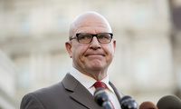 National Security Adviser H.R. McMaster pauses while speaking to members of the media