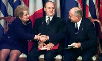 U.S. Secretary of State Madeleine Albright extends her congratulations to Hungarian Foreign Minister Janos Martonyi
