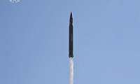 Hwasong-14 intercontinental ballistic missile launch