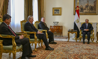 U.S. Secretary of State Michael R. Pompeo meets with Egyptian President Abdel Fattah al-Sisi, in Cairo, Egypt, on January 10, 2019.