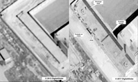satellite images of what the State Department described as a building in a prison complex in Syria that was modified to support a crematorium