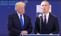 President Trump speech at NATO summit in Brussels. May 25, 2017.