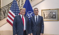 US President Donald Trump with NATO Secretary General Jens Stoltenberg.