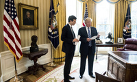 Donald Trump and Jared Kushner in Oval Office