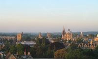 View of Oxford from Hans Krebs building in the morning light