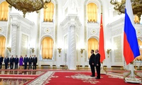 Russian President Vladimir Putin with Chairman of the People's Republic of China Xi Jinping