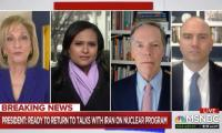 Former Under Secretary of State for Political Affairs Nicholas Burns and former Deputy National Security Advisor for Strategic Communications Ben Rhodes join Andrea Mitchell to talk about Biden's next steps on Iran and Russia.